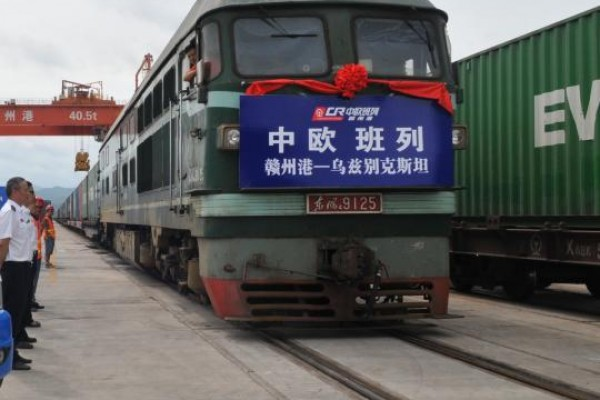 New China-Europe freight train links China's Jiangxi, Uzbekistan